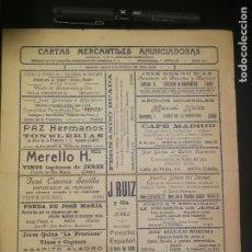 Cartas comerciales: CARTA DE FERNANDO BUADA A RAMÓN VARELA (1928) CON REVERSO CARTA MERCANTIL ANUNCIADORA. Lote 210353231