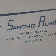 Cartas comerciales: SOBRE F. SANCHIZ ALBIÑANA ENGUERA. Lote 210385737