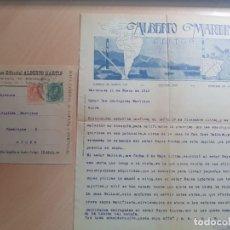 Cartas comerciales: ANTIGUA CARTA COMERCIAL ALBERTO MARTIN EDITOR SOBRE CIRCULADO AYORA ALMANSA 1918. Lote 211759455