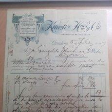 Cartas comerciales: ANTIGUA CROMOS TARJETAS POSTALES KÜNZLI HERMANOS Y CIA BARCELONA 1919. Lote 211761942