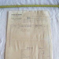 Cartas comerciales: JML DOCUMENTO LUIS FACARINO AGENCIA ADUANAS DESPACHO BUQUES INGENIERO MONTES GENOVA BARCELONA 1906. Lote 211847326