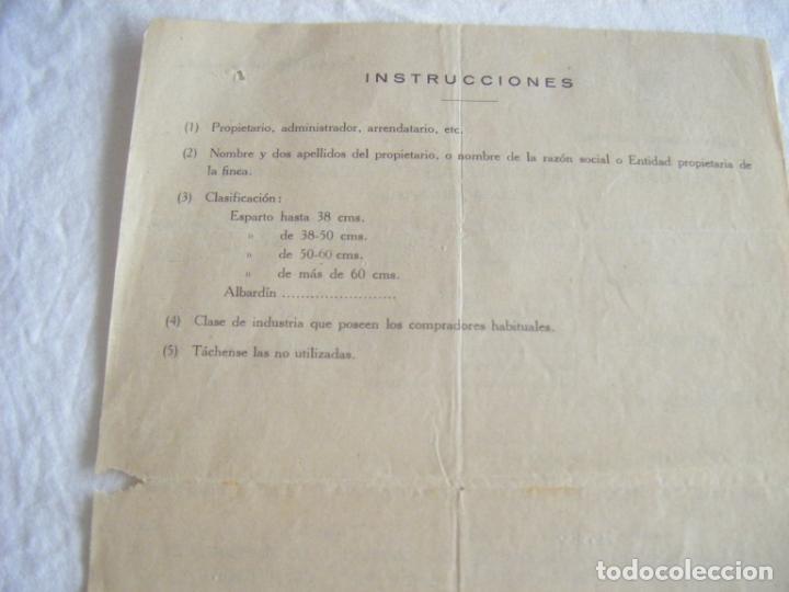 Cartas comerciales: JML LOTE DOCUMENTOS INDUSTRIA COMERCIO AGRICULTURA FINCA ESPARTO ALBARDIN PLEITA SOGA CUEVAS ALMERIA - Foto 3 - 211847806