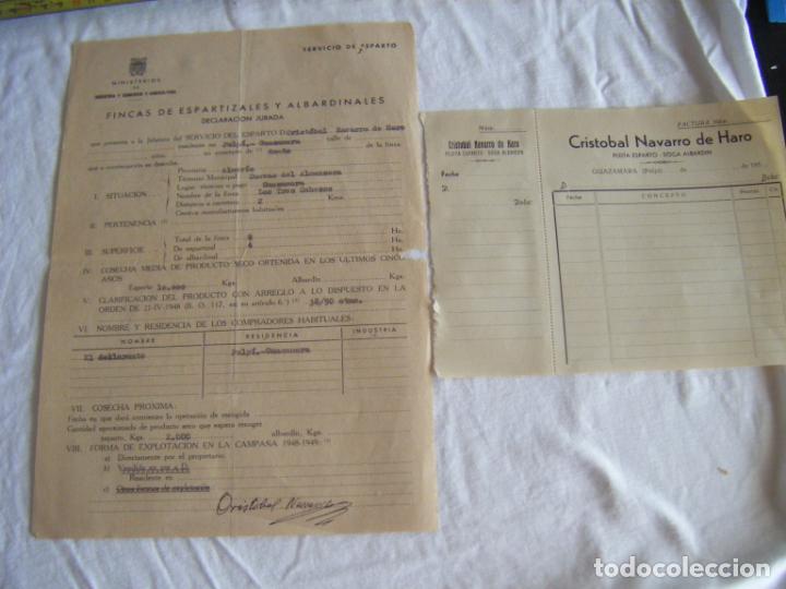 JML LOTE DOCUMENTOS INDUSTRIA COMERCIO AGRICULTURA FINCA ESPARTO ALBARDIN PLEITA SOGA CUEVAS ALMERIA (Coleccionismo - Documentos - Cartas Comerciales)