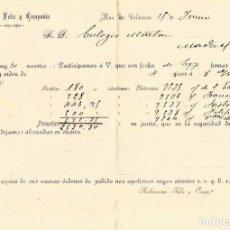 Cartas comerciales: CARTA 1904 RUA DE VALDEORRAS AVISO DE GIROS. Lote 211868036