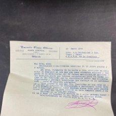 Cartas comerciales: CARTA COMERCIAL. ASENSIO CANO OLIVAS. ALBACETE, 1934. PARA A.R VALDESPINO, JEREZ.. Lote 211872168