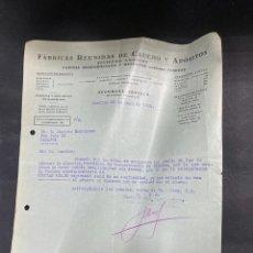 Cartas comerciales: CARTA COMERCIAL.FABRICAS REUNIDAS DE CAUCHO Y APOSITOS. SEVILLA, 1932.PARA JACINTO RODRIGUEZ.BADAJOZ. Lote 211872480