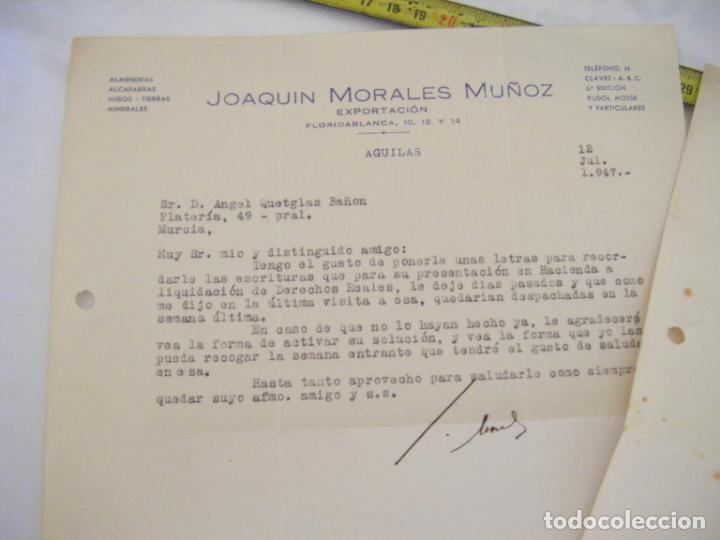 Cartas comerciales: JML LOTE 2 CARTAS COMERCIALES TIERRAS MINERALES ETC AGUILAS, PEDIDO DINAMITA ALUMBRES CARTAGENA 1947 - Foto 3 - 211967420