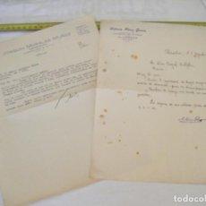 Cartas comerciales: JML LOTE 2 CARTAS COMERCIALES TIERRAS MINERALES ETC AGUILAS, PEDIDO DINAMITA ALUMBRES CARTAGENA 1947. Lote 211967420