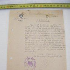 Cartas comerciales: JML DOCUMENTO JEFATURA DE MINAS MURCIA DECRETO EL INGENIERO JEFE ACCIDENTAL 1946. Lote 211969677
