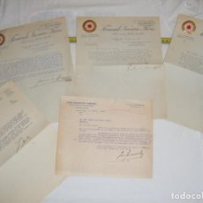 Cartas comerciales: JML LOTE CARTAS COMERCIALES ALCAPARRAS SALAZONES FRUTOS SECOS HIGOS TIERRAS MINERALES AGUILAS MURCIA. Lote 211974015