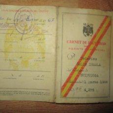 Cartas comerciales: CARNET AGENTE COMERCIAL MADRID 1966 SOLIS FEDERICO. Lote 214057750