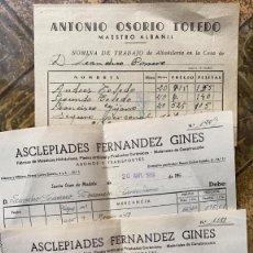 Cartas comerciales: CARTAS COMERCIALES ASCLEPIADES FERNANDEZ GINES Y ANTONIO OSORIO TOLEDO LOTE DE 3 UDS.. Lote 214099552