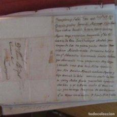 Cartas comerciales: LEGAJO MUY ANTIGUA CARTA, SELLO CORREOS AÑOS 1800. Lote 214207385