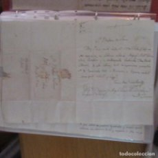 Cartas comerciales: LEGAJO MUY ANTIGUA CARTA, SELLO CORREOS AÑOS 1800. Lote 214207477