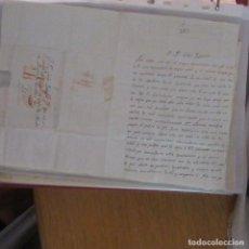 Cartas comerciales: LEGAJO MUY ANTIGUA CARTA, SELLO CORREOS AÑOS 1800. Lote 214207586