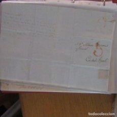 Cartas comerciales: LEGAJO MUY ANTIGUA CARTA, SELLO CORREOS AÑOS 1800. Lote 214207671