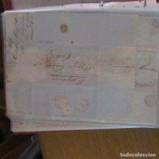 Cartas comerciales: LEGAJO MUY ANTIGUA CARTA, SELLO CORREOS AÑOS 1800. Lote 214207696