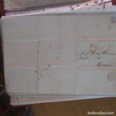 Cartas comerciales: LEGAJO MUY ANTIGUA CARTA, SELLO CORREOS AÑOS 1800. Lote 214207727