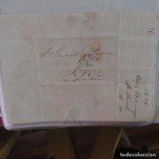 Cartas comerciales: LEGAJO MUY ANTIGUA CARTA, SELLO CORREOS AÑOS 1800. Lote 214207780