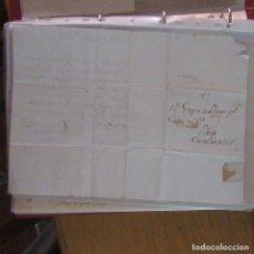 Cartas comerciales: LEGAJO MUY ANTIGUA CARTA, SELLO CORREOS AÑOS 1800. Lote 214207813