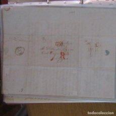 Cartas comerciales: LEGAJO MUY ANTIGUA CARTA, SELLO CORREOS AÑOS 1800. Lote 214207837