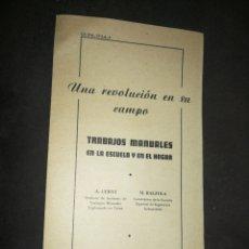 Cartas comerciales: CARTA COMERCIAL AÑO 1947,TRABAJOS MANUALES ESCUELA Y HOGAR, EDITORIAL BALZOLA-BILBAO. Lote 214227481
