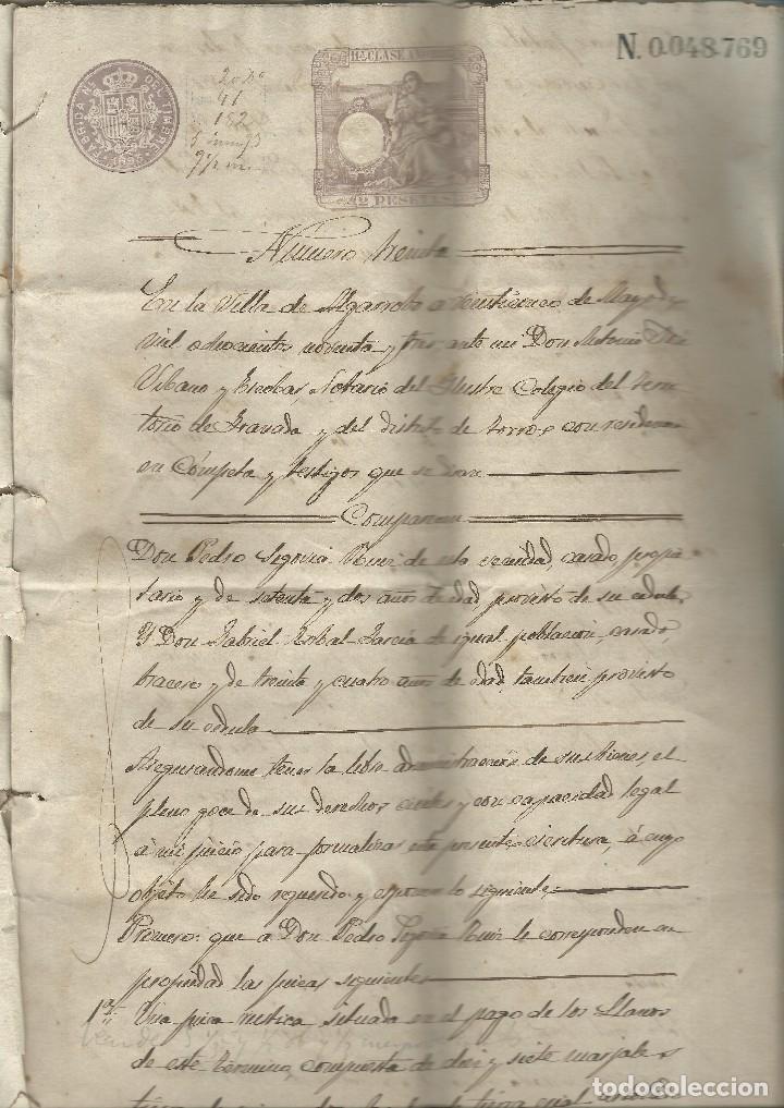 CONTRATOS DE COMPRAVENTA, 1893, CON TIMBRE, SELLOS Y FIRMAS ADJUNTOS (2 DOCUMENTOS) (Coleccionismo - Documentos - Cartas Comerciales)