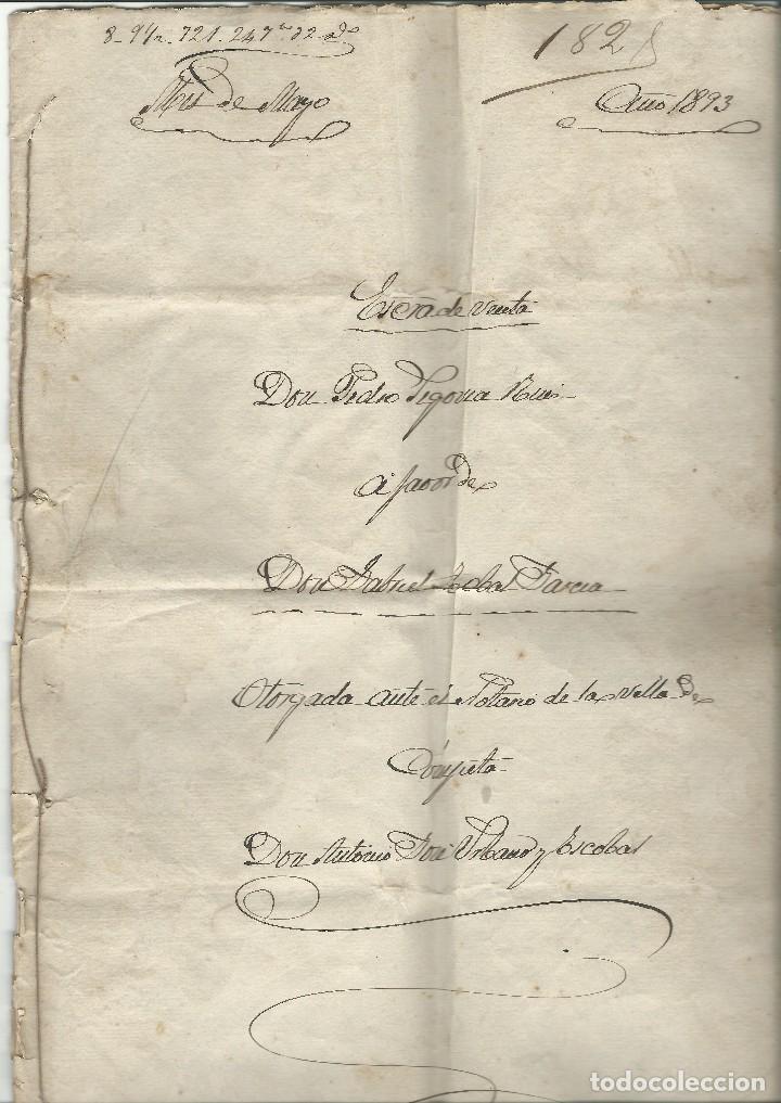 Cartas comerciales: Contratos de compraventa, 1893, con timbre, sellos y firmas adjuntos (2 documentos) - Foto 4 - 214250627