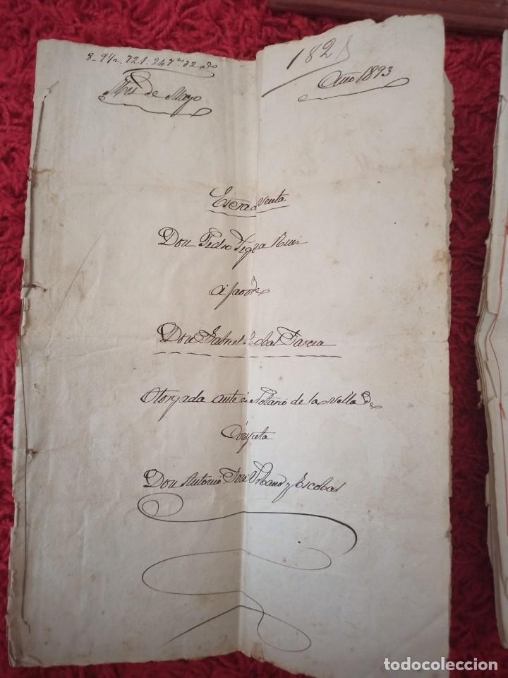 Cartas comerciales: Contratos de compraventa, 1893, con timbre, sellos y firmas adjuntos (2 documentos) - Foto 6 - 214250627