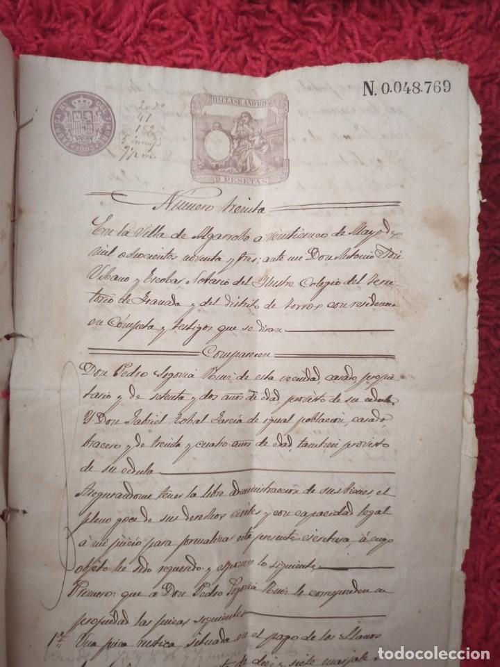 Cartas comerciales: Contratos de compraventa, 1893, con timbre, sellos y firmas adjuntos (2 documentos) - Foto 7 - 214250627