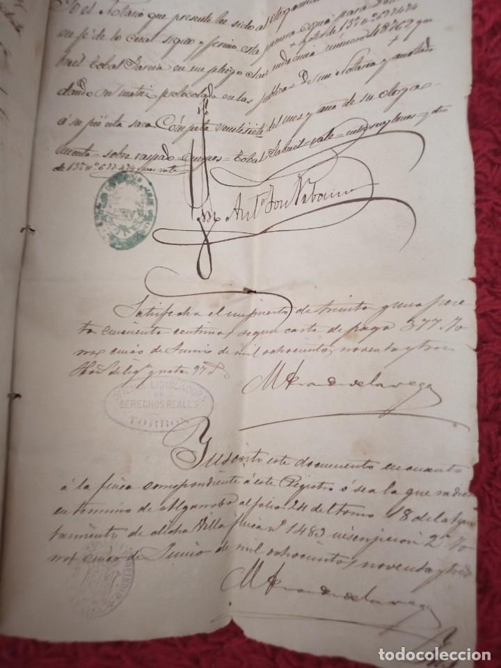 Cartas comerciales: Contratos de compraventa, 1893, con timbre, sellos y firmas adjuntos (2 documentos) - Foto 10 - 214250627
