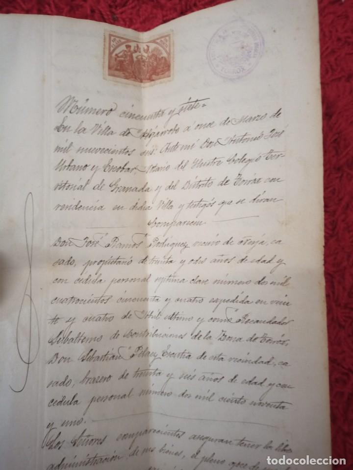 Cartas comerciales: Contratos de compraventa, 1893, con timbre, sellos y firmas adjuntos (2 documentos) - Foto 12 - 214250627