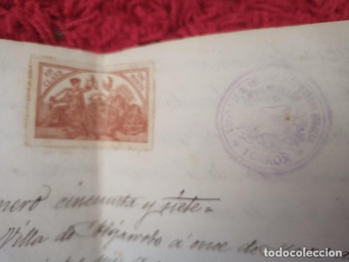 Cartas comerciales: Contratos de compraventa, 1893, con timbre, sellos y firmas adjuntos (2 documentos) - Foto 13 - 214250627