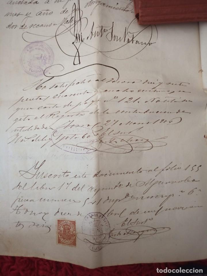 Cartas comerciales: Contratos de compraventa, 1893, con timbre, sellos y firmas adjuntos (2 documentos) - Foto 15 - 214250627