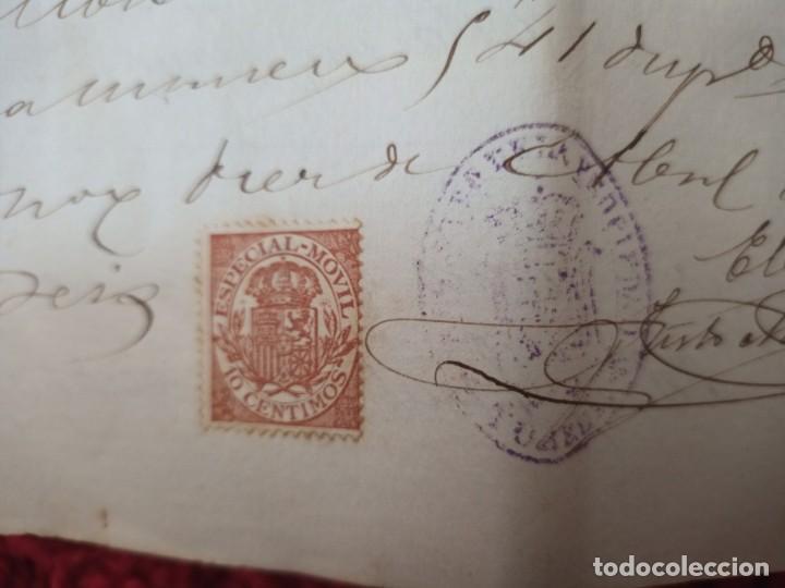 Cartas comerciales: Contratos de compraventa, 1893, con timbre, sellos y firmas adjuntos (2 documentos) - Foto 16 - 214250627