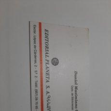 Cartas comerciales: TARJETA COMERCIAL. Lote 214382226