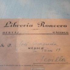 Cartas comerciales: CELULA DE LIBREIA RONCERO CACERES. Lote 217572925
