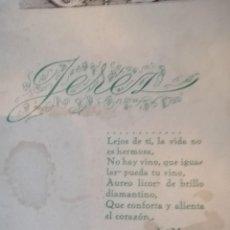 Cartas comerciales: LIBRETO DE VINOS DEL MARCO DE JETEZ. Lote 217597076