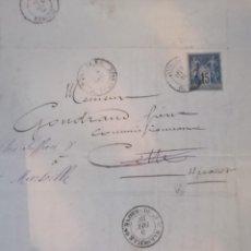 Cartas comerciales: CARTA O CORRESPONDENCIA DE FINALES DEL SIGLO XIX Y ESTA MUY BIEN CONSERVADA SELLO MATASELLO INTACTO. Lote 218203015