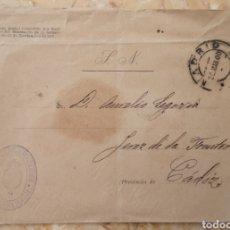 Cartas comerciales: CARTA SOBRE SELLO EXPOSICIÓN UNIVERSAL DE PARIS 1900 COMISARÍA REGIA DE ESPAÑA. Lote 218245418