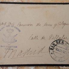 Cartas comerciales: SOBRE PARTE FRONTAL CON MATASELLO DE CORREOS DE SAN SEBASTIAN AÑO 1900. Lote 218251096