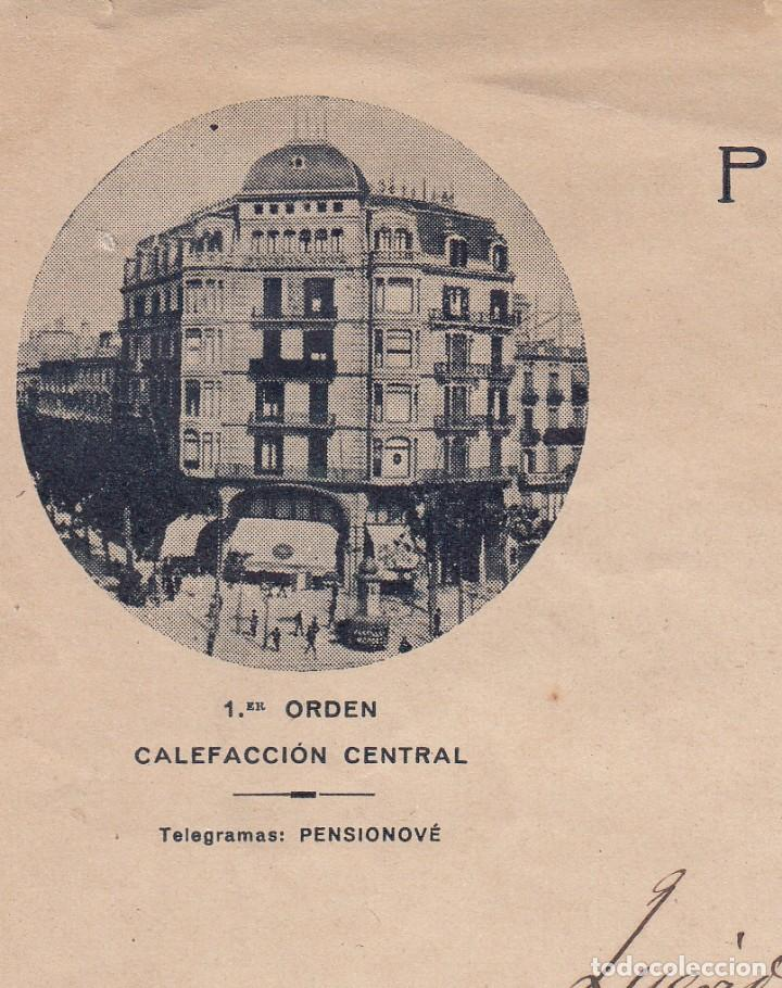 Cartas comerciales: CARTA COMERCIAL DE PENSION NOWÉ - CASA BELGA- EN PLAÇA DE CATALUNYA DE BARCELONA - Foto 2 - 221284260