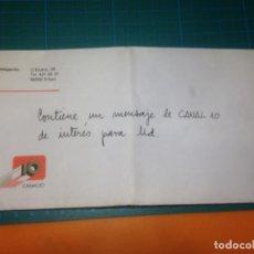 Cartas comerciales: CANAL 10 - TELEVISION POR CABLE - CARTA PROPAGANDA INSTALACIÓN Y ABONO - MARZO 1988. Lote 221598393