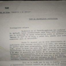 Cartas comerciales: HOJAS TVE NIVEL DE VIDA CONSULTE A SU MÉDICO TEST DE ORIENTACIÓN PSICOLÓGICA TELEVISIÓN ESPAÑOLA. Lote 222083226