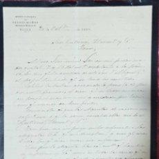 Cartas comerciales: CARTA COMERCIAL. FAUSTO MUÑOZ. IMPRENTA Y LITOGRAFÍA. MÁLAGA. ESPAÑA 1882. Lote 222168166