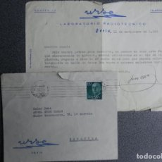 Cartas comerciales: SORIA LABORATORIO RADIOTÉCNICO URSE, AÑO 1961 SOBRE Y CARTA PUBLICITARIA. Lote 222170807