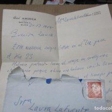Cartas comerciales: CARTA CON MEMBRETE DEL HOTEL AMERICA DE GIJON 1965. Lote 222180467
