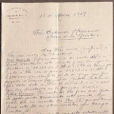 Cartas comerciales: CARTA COMERCIAL. RAFAEL MORENO ANTEQUERA. MADRID. ESPAÑA 1927. Lote 222231268