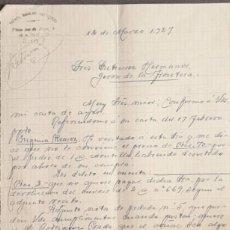 Cartas comerciales: CARTA COMERCIAL. RAFAEL MORENO ANTEQUERA. MADRID. ESPAÑA 1927. Lote 222231486