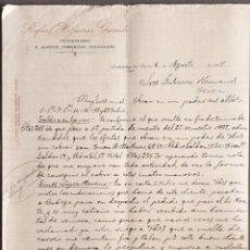Cartas comerciales: CARTA COMERCIAL. RAFAEL HIGUERAS GARRIDO. VETERINARIO Y AGENTE COMERCIAL COLEGIADO. JAÉN.ESPAÑA 1927. Lote 222231971